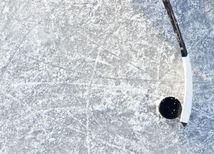 ľad, hokej, hokejka, puk