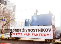 živnostníci, protest, Váhostav