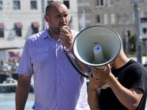 Marián Magát, demonštrácia, utečenci