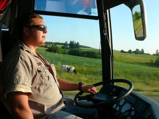 autobusár, šofér, autobus, SAD