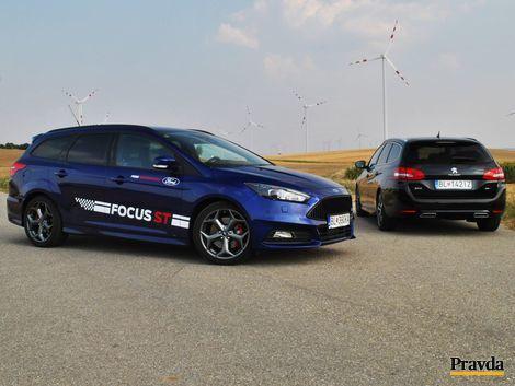 Test: Ford Focus ST kombi vs. Peugeot 308 GT SW- naftový chuligán a umelec