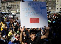 utečenci, Budapešť, stanica
