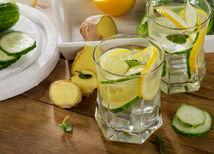 voda, citrón