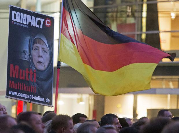 Nemecko, utečenci, protest