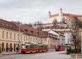 Bratislavský hrad, Kapucínska, električky, Staré mesto