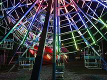 Mjanmarsko, kolotoč, zábavný park, svetlá, lunapark, Mandalay