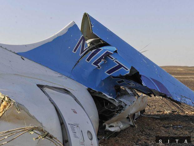 egypt, ruské lietadlo, trosky,