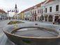 Trnava, koruna, námestie, fontána