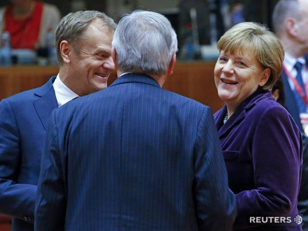 Merkel, Tusk, Juncker, summit, Brusel