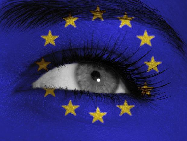 EÚ, európska únia, oko, mihalnice, európa, vlajka, zástava