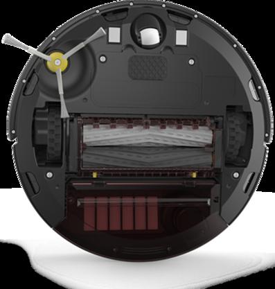 iRobot Roomba je prakticky bezúdržbový. Občas je však potrebné vyčistiť gumené kefy na spodnej strane.