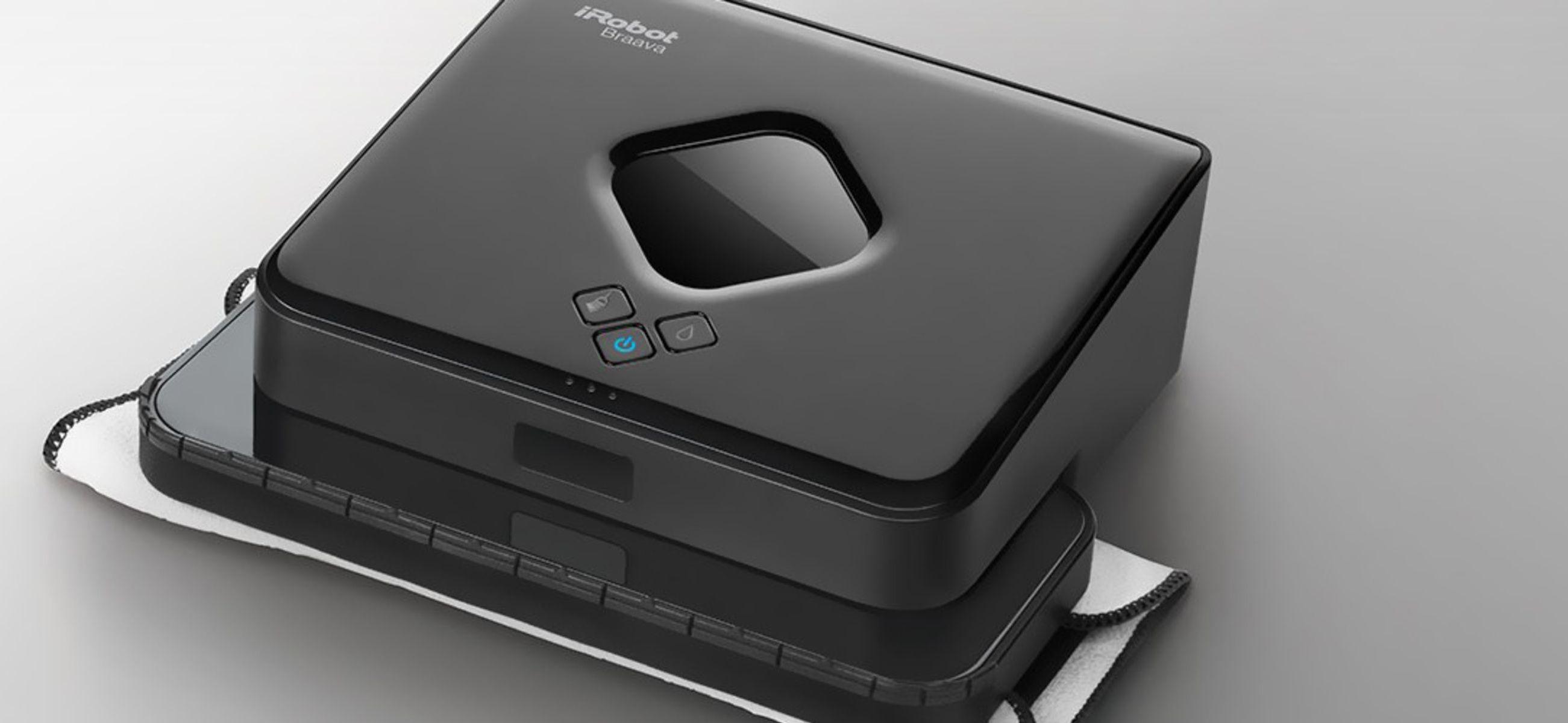 iRobot Braava je možné za pomoci dvoch rôznych nástavcov a utierok použiť na suché aj mokré čistenie.