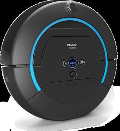 Robotu iRobot Scooba je stlačením tlačidla možné poradiť, akú veľkú miestnosť bude umývať.
