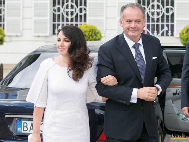 prezident SR, inaguracia, Andrej Kiska, kiska s manželkou, kiskova manželka, martina kisková