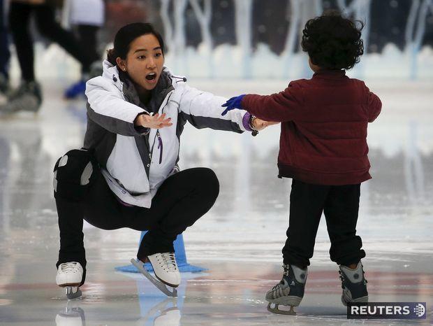 korčuľovanie, klzisko, ľad