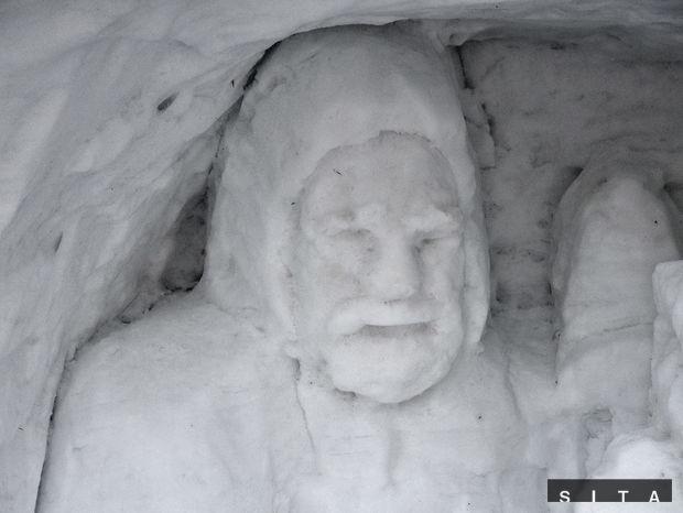Rainerova chata, snehový betlehem, zima, sneh, Vianoce