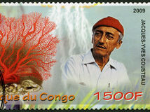 Jacques-Yves Cousteau, oceánograf, známka