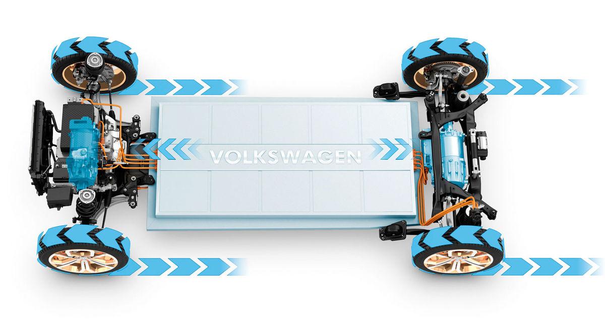 Batérie s kapacitou 92,4 kWh sú umiestnené v podlahe. Ich energiu čerpajú dva elektromotory, každý na jednej z náprav, so spoločným výkonom 225 kW.
