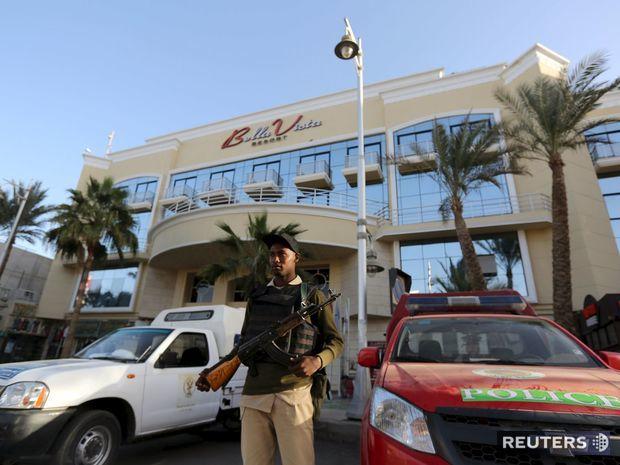 hotel, útok, Egypt