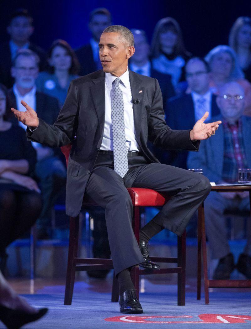Americký prezident Barack Obama počas verejnej debaty o kontrole zbraní v USA.