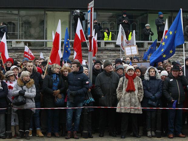 poľsko, demonštrácia, protest,
