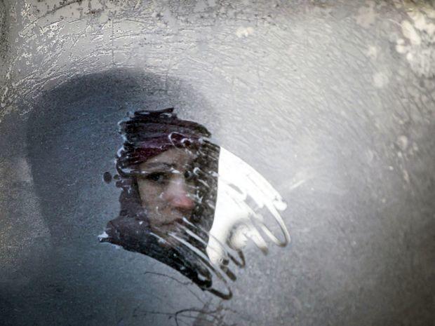 Ukrajina, počasie, žena,
