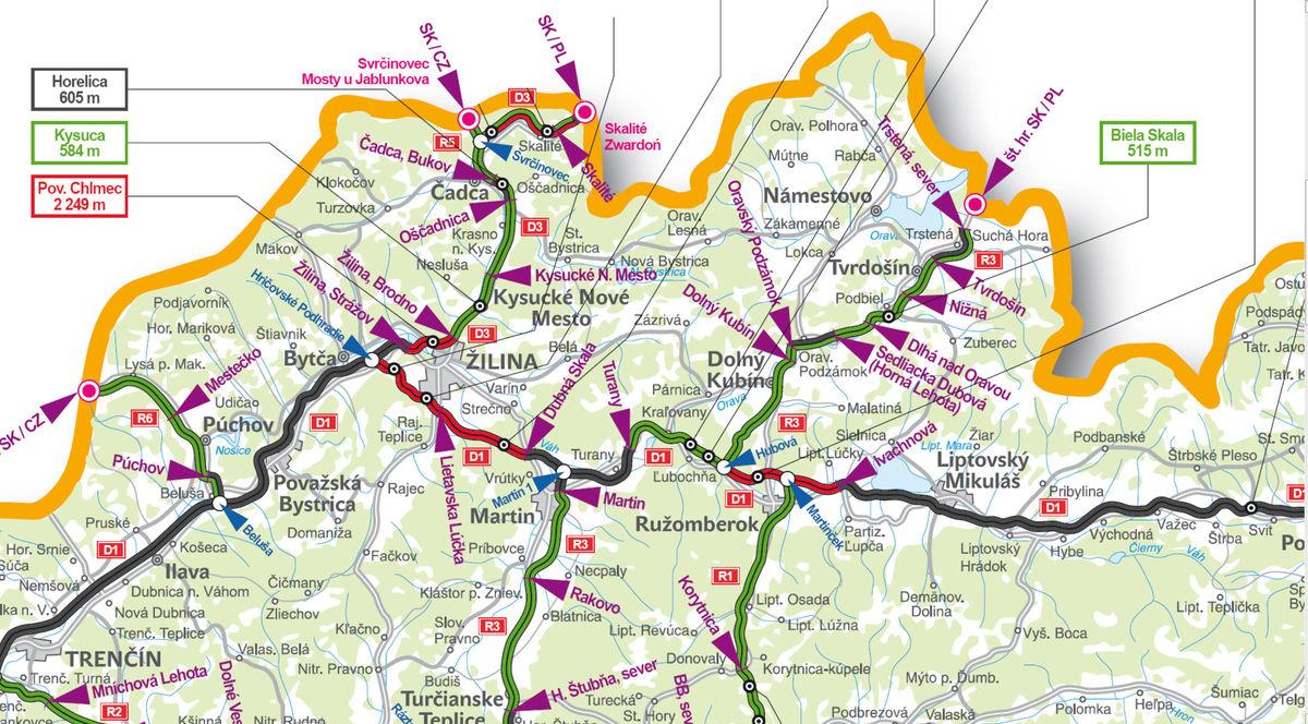 Najbližšie plány vo výstavbe diaľnic na Slovensku.