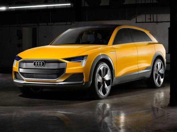 Vodíkový koncept h-tron quattro je derivátom vlaňajšej štúdie e-tron    quattro. Rozdiely badať len v tvare nárazníkov a vo vyzývavom žltom laku karosérie.