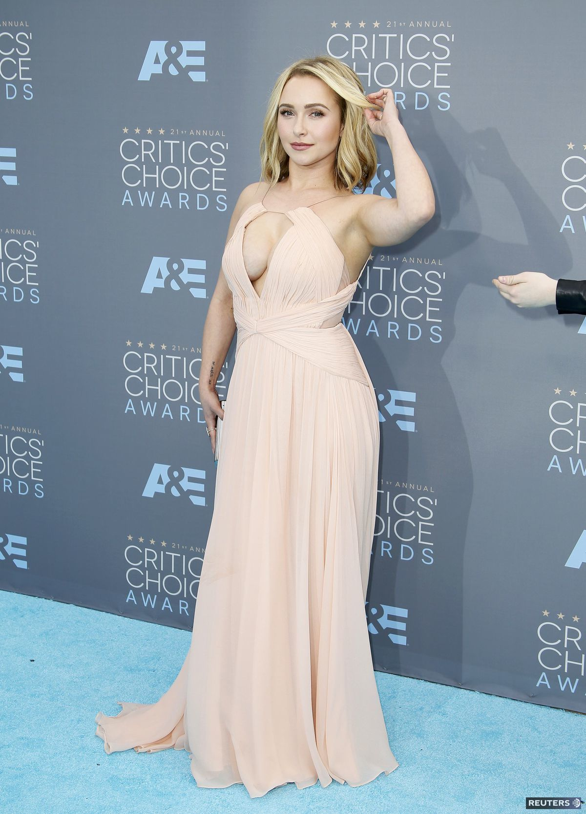 Herečka Hayden Panettiere na vyhlásení cien Critics' Choice Awards.