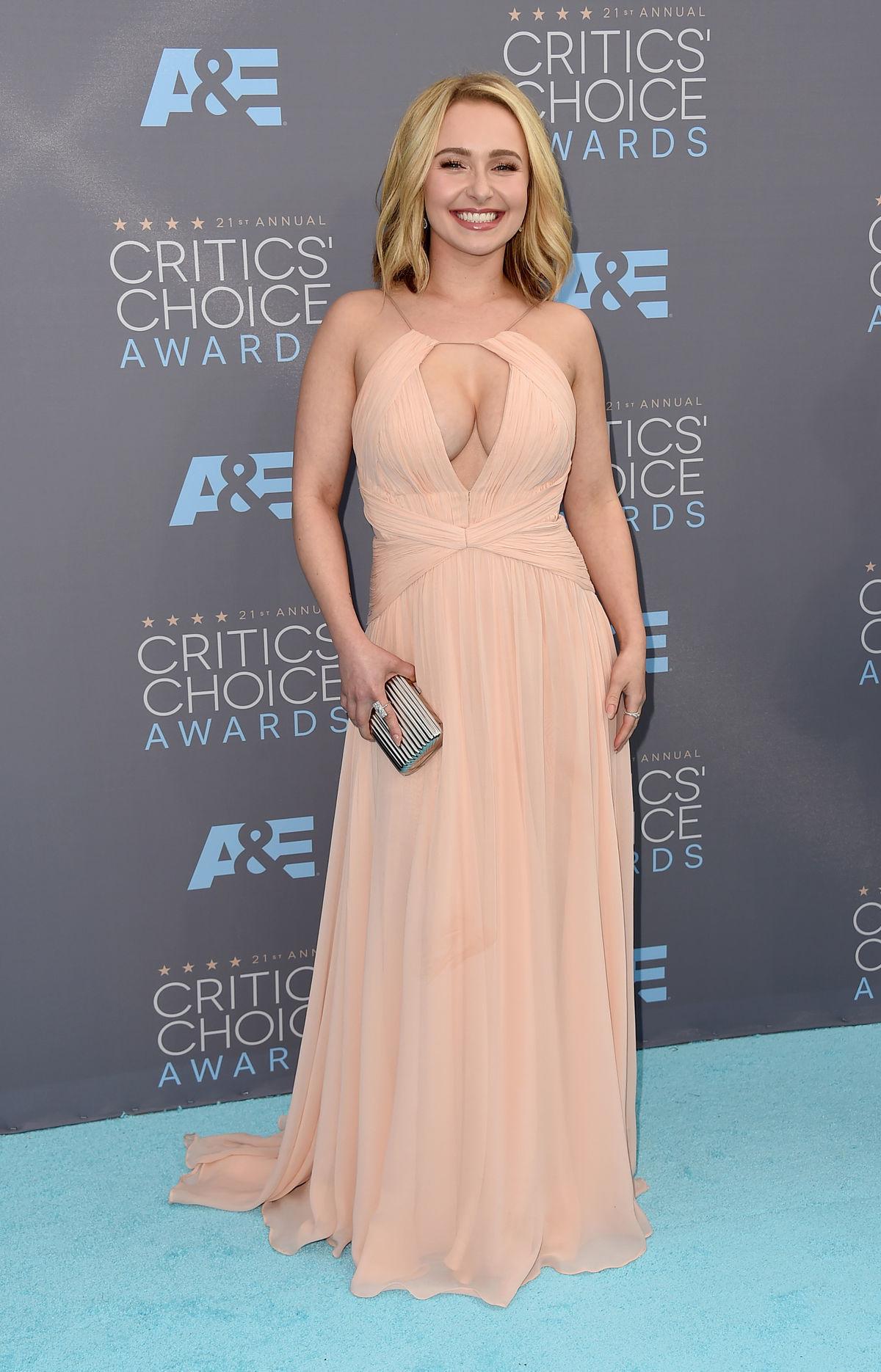 Hayden Panettiere oblečená v šatách Maria Lucia Hohan.