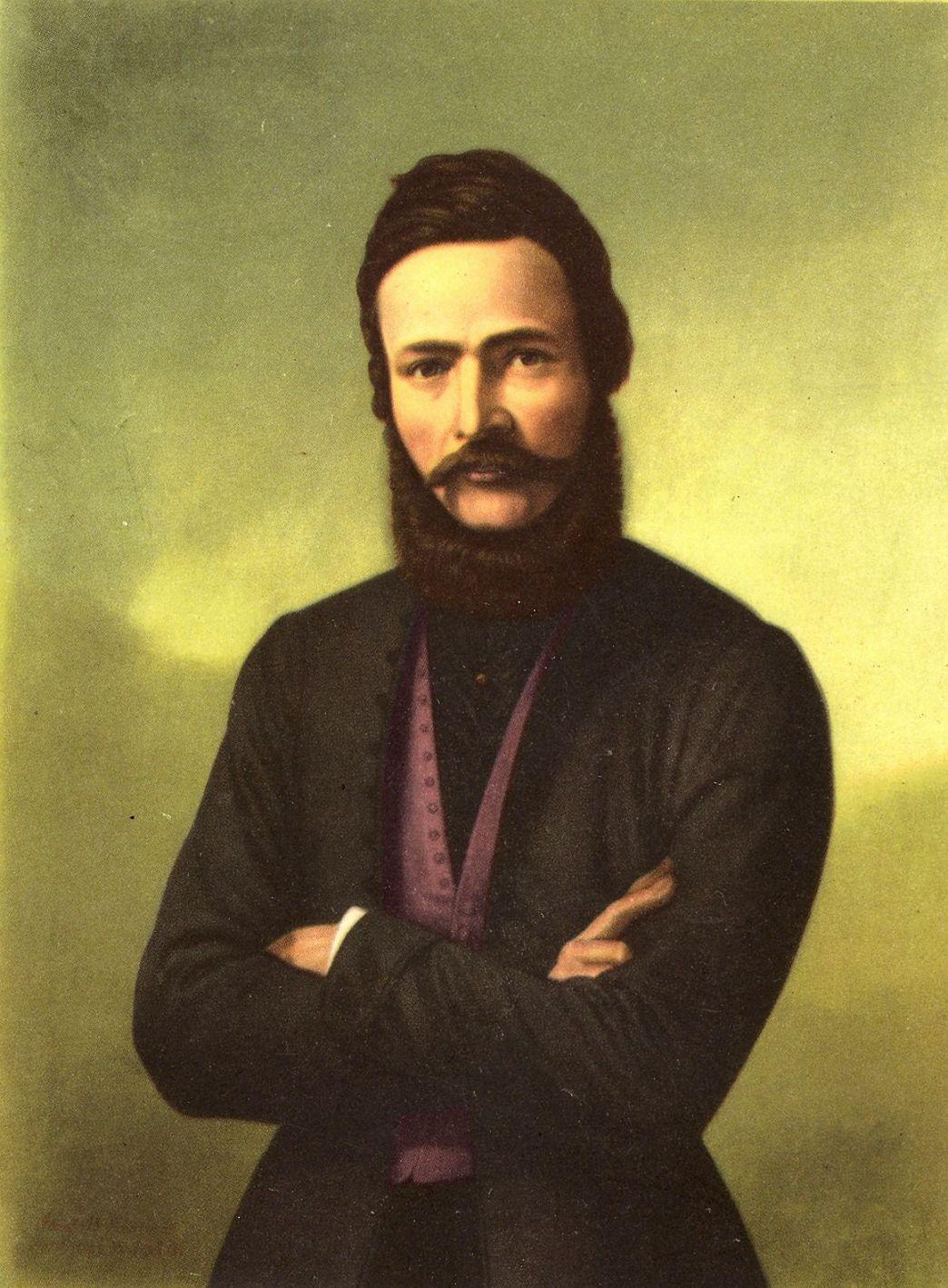 Portrét Ľudovíta Štúra od Jozefa B. Klemensa, namaľovaný podľa najvýstižnejšej podobizne - litografie Františka Kolářa z roku 1861, SNM.