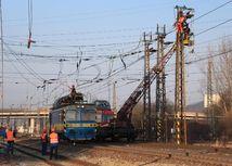 porucha elektrického vedenia, vlaky, Žilina