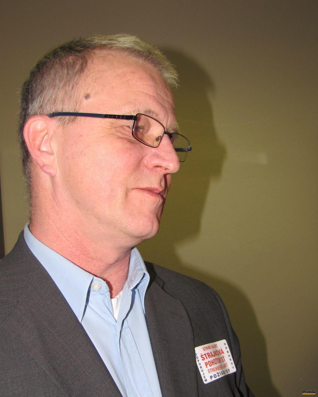 Na snímke šéf odborov Stanislav Ľupták.