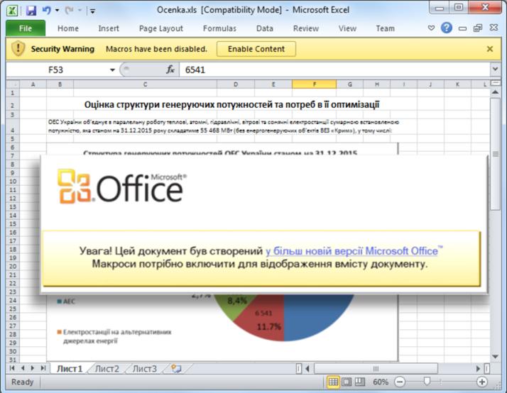 Nová vlna kybernetických útokov na Ukrajine pokračuje. Malvér sa do počítača stiahne cez aktívne makrá v Exceli.