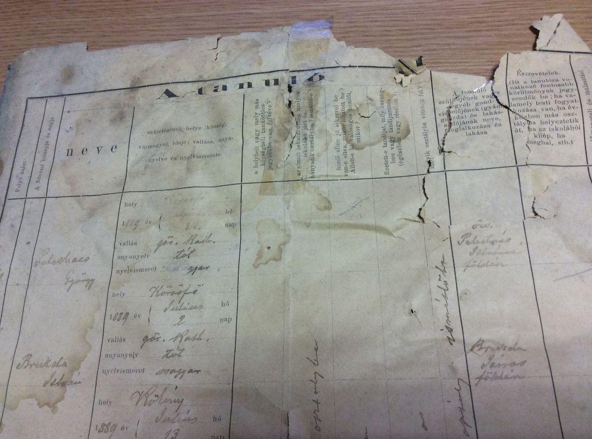 Tento starý dokument si pamätá ešte časy monarchie.