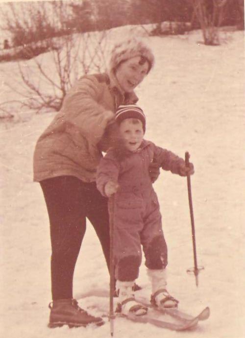 S babkou v roku 1964. Už sa športovalo...