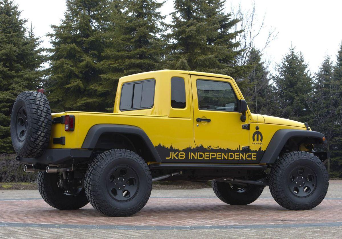Jedinou možnosťou, ako si dopriať Jeep pikap, je prestavba v spoločnosti Mopar, ktorá vyrába kit JK-8.