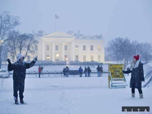 usa, snehová búrka, biely dom, washington,