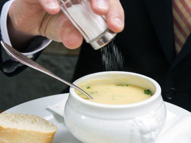 soľ, polievka, jedlo, obed