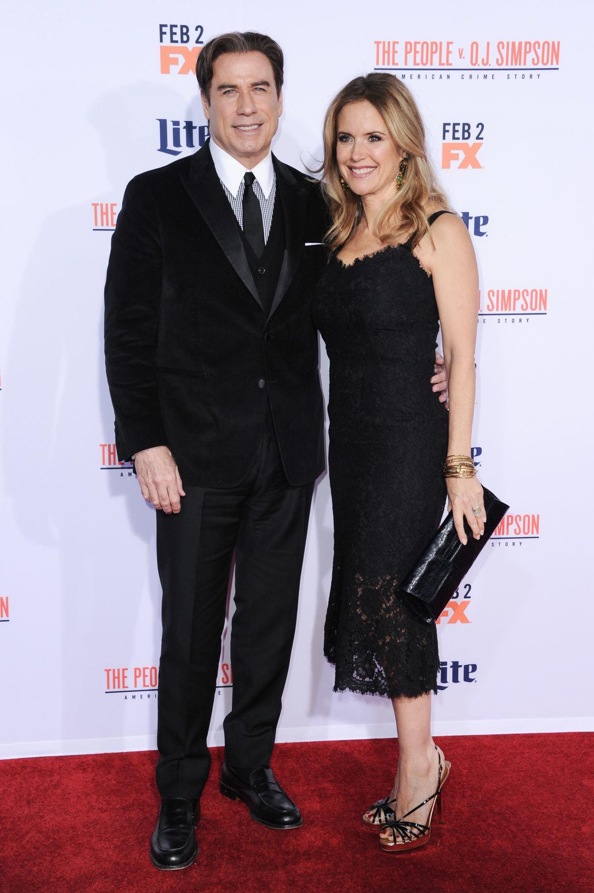 Herec John Travolta a jeho manželka Kelly Preston.