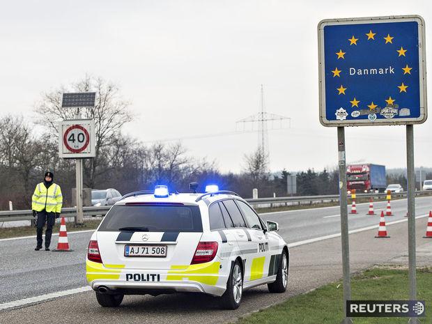 Dánsko, hranice, políca, kontrola