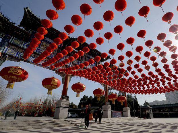 Čína, oslavy nového roka, lunárny nový rok, lampióny, cestovanie