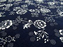 kvety, ornamenty, modrotlač