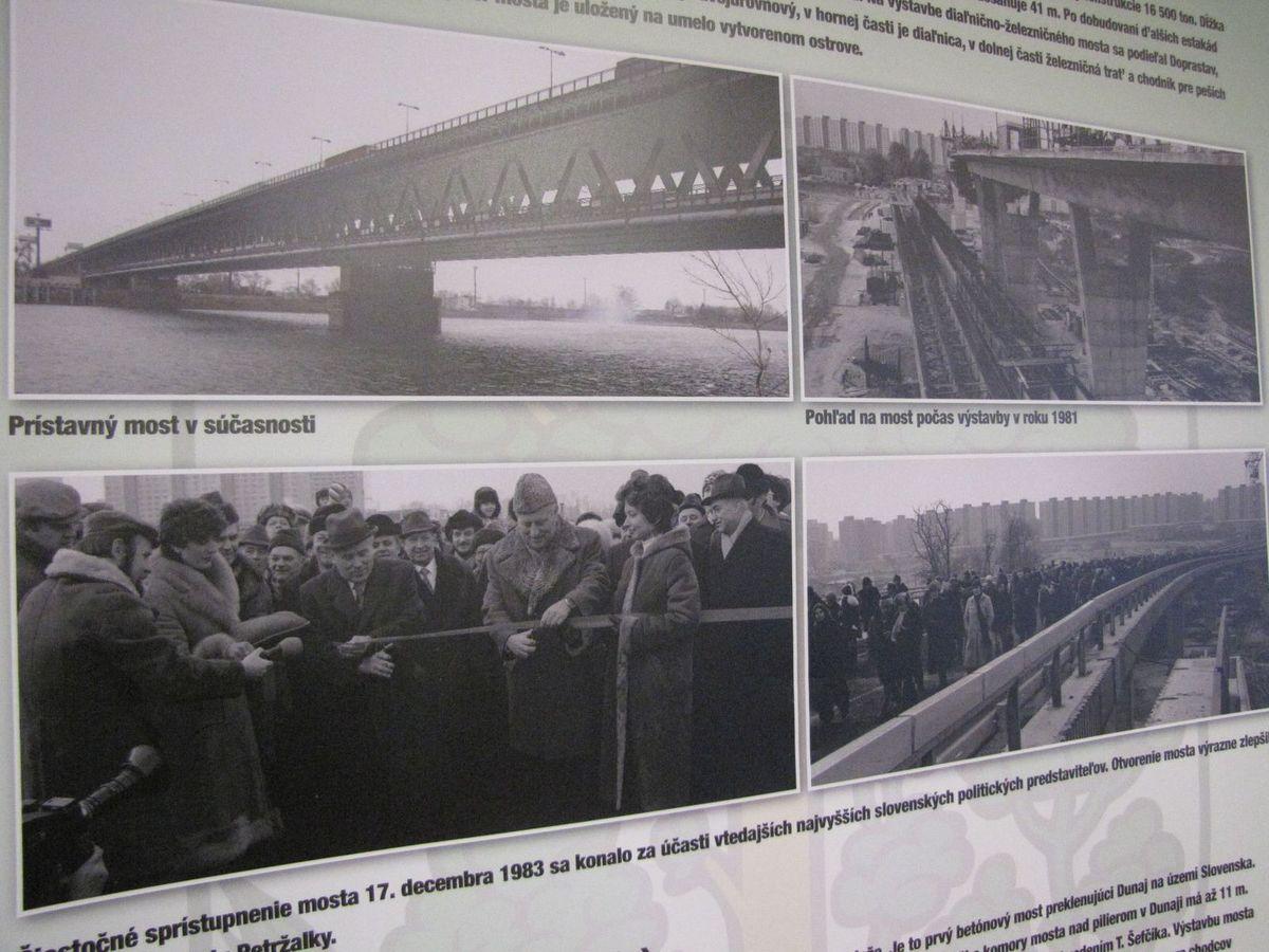 Fotodokumentácia z výstavby a otvorenia Prístavného mosta.