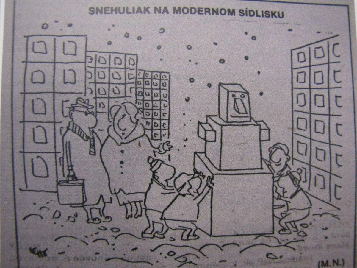 Autori si dali naozaj záležať a na výstave uvidíte veľa zaujímavého, napríklad aj túto dobovú karikatúru.
