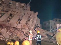 zemetrasenie, južný Taiwan