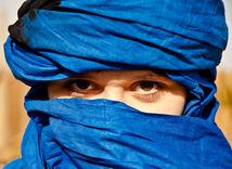 šatka, zahalená žena, tuaregské ženy, púšť