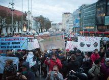 protest, učitelia