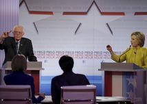 Hillary Clintonová. Bernie Sanders, voľby prezidenta v USA