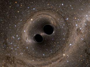 vesmír, čierne diery, gravitačné vlny,